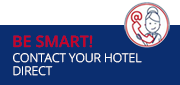 Be smart! Contact your hotel direct