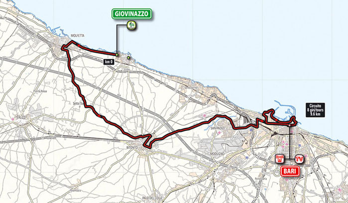 "First stage of the 97th ""Giro d'Italia"" in Bari"