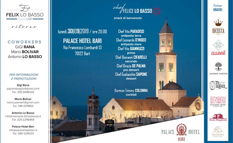 """""""Ritorno"""": il 30 settembre anche Bari conterà una Stella Michelin"""