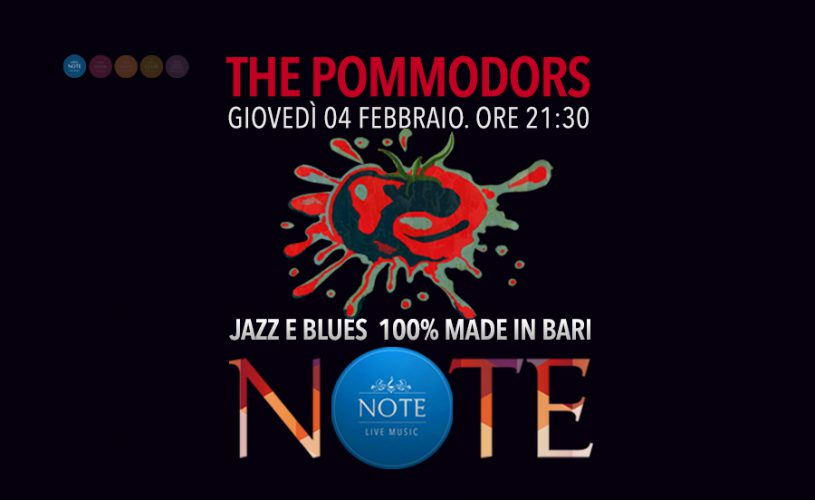 The Pommodors: Jazz & Blues Made in Bari al Palace Cafè