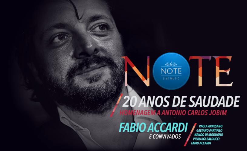 Fabio Accardi omaggia Jobim e la saudade d'autore al Palace Cafè di Bari