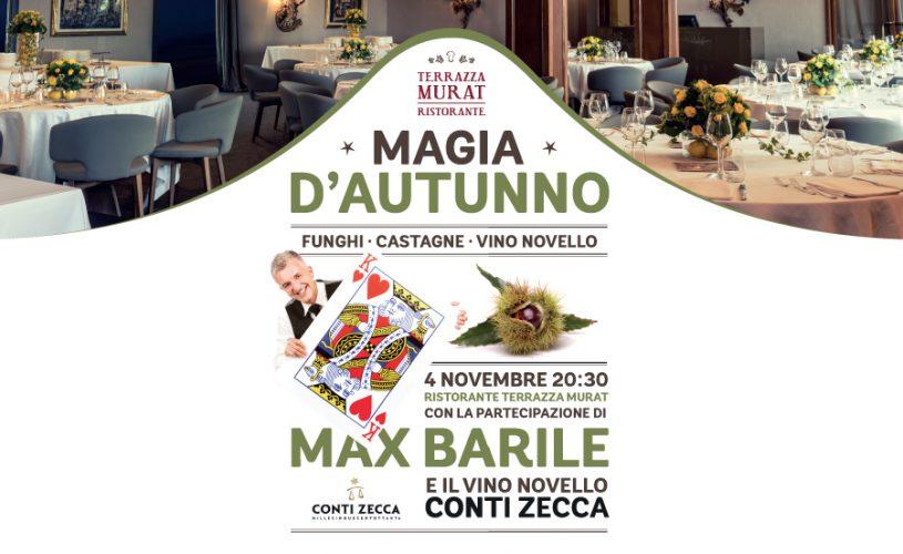 Magia d'autunno in Terrazza Murat: a cena con Max Barile